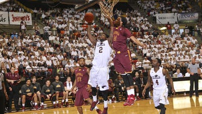 Forward DeMondre Harvey's 16 points and 10 rebounds gave the ULM senior his fifth career double-double.
