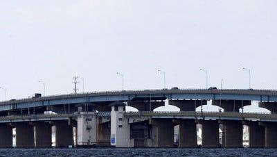 The Thomas A. Mathis Bridge.