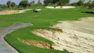 The back nine holes at SilverRock in La Quinta are expected to be closed from June 1 through November for realignment work related to the development of a luxury hotel and other amenities. The 15th hole underwent some changes in 2014 that included a new tee box and a wider fairway during course alterations made when a portion of the All-American Canal that runs through the course was repositioned.
