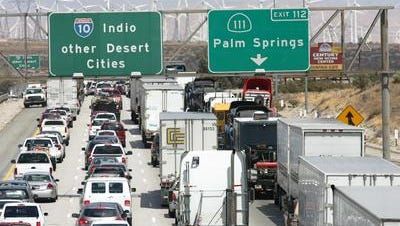 This Desert Sun file photo shows congestion that occurs during holiday weekends.
