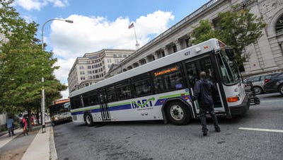 DART bus pictured in Rodney Square in 2014.