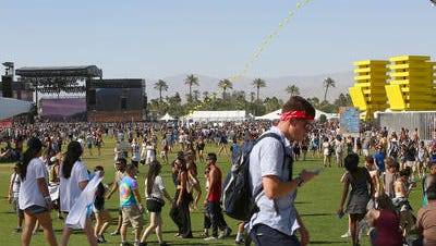 People attend the Coachella Valley Music and Arts Festival in 2016.