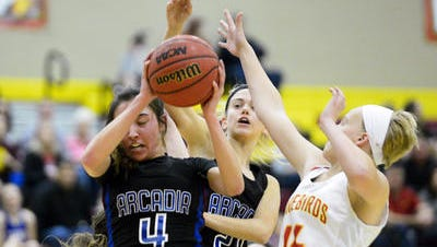 Arcadia junior forward Taylor Houser made top five performers of the week after a big game against Chaparral.