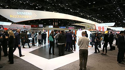Siemens Healthineers booth at a recent medical show.