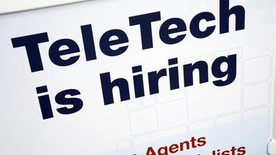TeleTech is looking to hire 400 people as it works with a new major client.