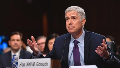 Supreme Court nominee Neil Gorsuch testifies before the Senate Judiciary Committee.