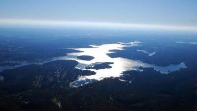 Lake Hopatcong aerial view.