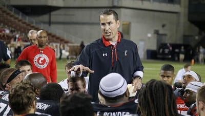 University of Cincinnati football coach Luke Fickell will meet and great fans at the Under Armour store in Monroe, Ohio on Saturday.