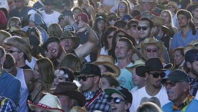 This photo shows a crowd at the 2017 Stagecoach country music festival. Police say 139 people were arrested for alcohol-related violations. Most of them were minors.