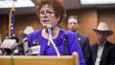 "Senate Education Chairwoman Sylvia Allen wants teacher to ""give her a brake""."