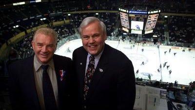 Terry Crisp, left, and Pete Weber, in 2003.