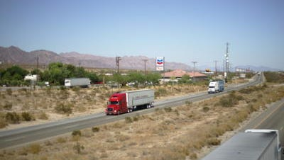 This Desert Sun file photo shows Interstate 10 in Chiriaco Summit. It's part of a stretch that will undergo improvements to reduce traffic crashes.