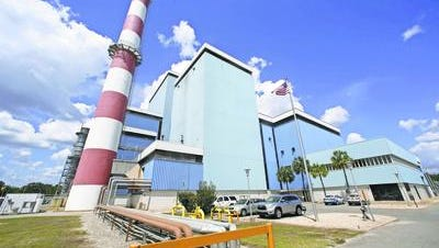 Arvah B. Hopkins generating station in Tallahassee provides about two-thirds of the city's electrical capacity