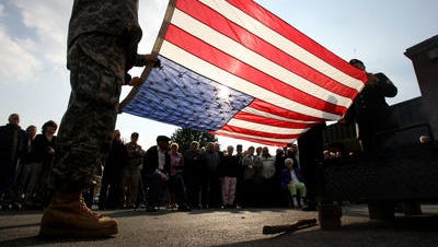 A Veterans Day ceremony