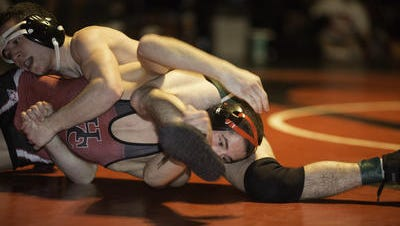 Hunterdon Central High School's Hunter Graf wrestling last season.