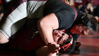 Hunterdon Central wrestling defeats Phillipsburg.