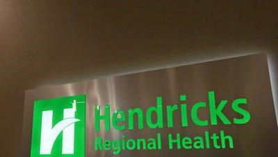 A sign marks the entrance to Hendricks Regional Health Brownsburg hospital.