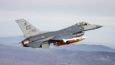 An Air Force F-16 fighter jet intercepted a small aircraft that violated the air traffic restriction placed over Bedminster for the visit of President Donald Trump.