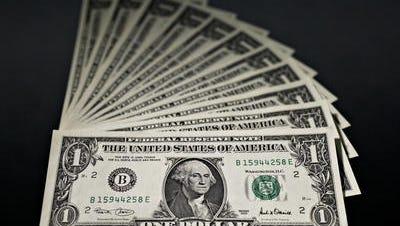 U.S. one dollar bills