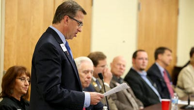 Democrat Fred Kundrata speaks at Meet the Candidates Forum at the Houston Conference Center in Colerain Township Thursday. Ohio used to be a battleground for congressional races, with the Cincinnati-based 1st district Exhibit A for nail-biter, toss-up contests that helped determine which party controlled the U.S. House. Now, the 1ST district is a prime example of how the parties have drawn increasingly safe seats for their respective incumbents.