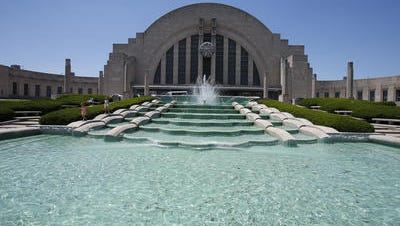 Queensgate's Union Terminal opened in 1933 as a railroad station and now houses the Cincinnati Museum Center.