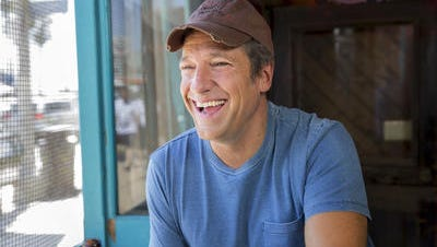 """Mike Rowe in a promotional shoot for the CNN series """"Somebody's Gotta Do It,"""" that debuted this month."""