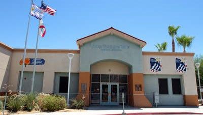 A man flashed students outside George Washington Charter School on Portola Avenue in Palm Desert, according to the Desert Sands Unified School District.