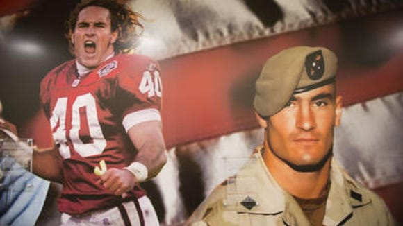 Pat Tillman mural at ASU veterans center