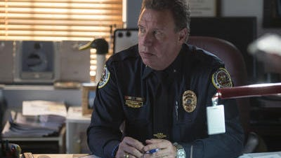 In this April 6, 2015 photo, Princess Anne Police Chief Scott Keller discusses the tragic deaths of town residents Rodney Todd and his seven children from accidental carbon monoxide poisoning. By Friday, he had retired.