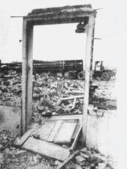 Demolition of the polluted Remington Rand factory cleared the way for the Elmira High School in the late 1970s.