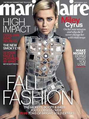 Miley Cyrus on the cover of Marie Claire.