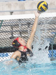 Palm Desert High School's goalie, Savannah Clyde, was essential in helping her team win the CIF Championship match against Temple City at Woollett Aquatics Center in Irvine, California on February 27, 2016. The Aztecs won 13-4.