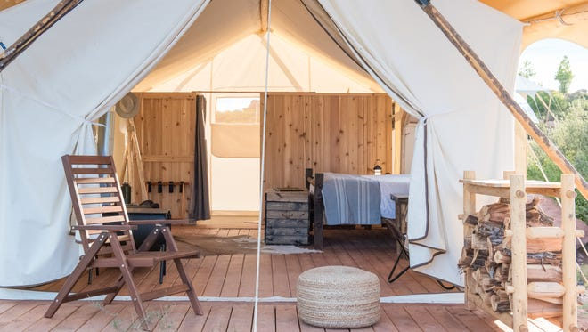 """Under Canvas Great Smoky Mountains opens in September. The glamorous camping, or """"glamping,"""" site offers luxury tents and amenities."""