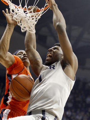 Xavier's Jalen Reynolds had 18 points during the Musketeers' win over Auburn at the Cintas Center Saturday December 19, 2015. Xavier won 85-61 and remain unbeaten at 11-0.
