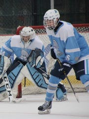 Cullen Barber and Nick Beers are pictured during Sunday's