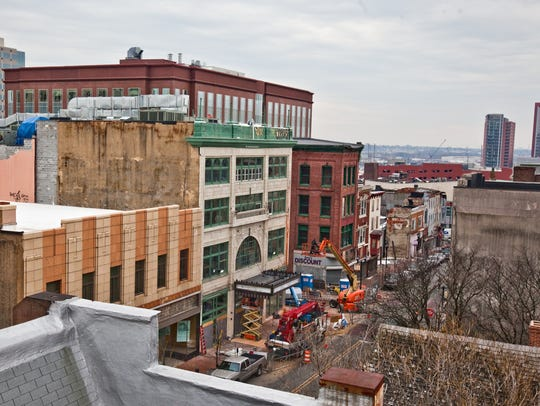 Construction at the Queen Theatre in Wilmington in