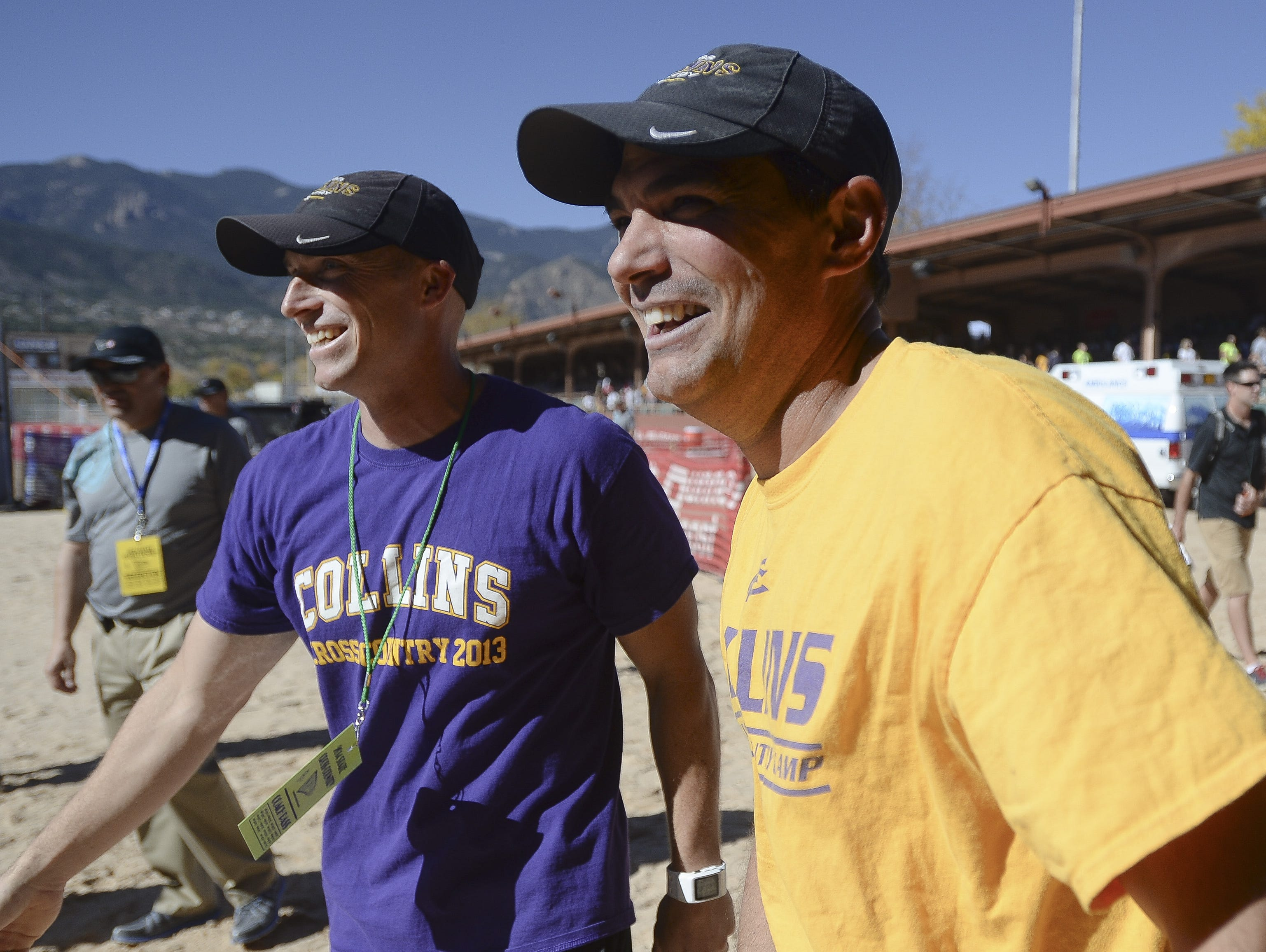 Conrad Crist, left, has been named the head cross country coach at Fort Collins. He says longtime coach Chris Suppes, right, will co-coach the team with him.