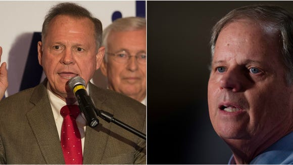 From left: Roy Moore, Doug Jones.
