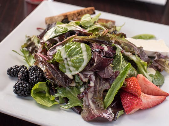 Harvest Salad from Bibi'z in Westwood, NJ on Wednesday April 18, 2018.