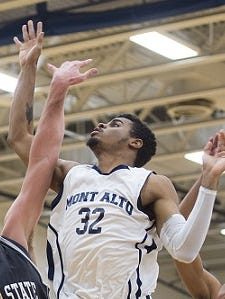Penn State Mont Alto's Siele Johnson (32) helped his team win the PSUAC championship on Tuesday.