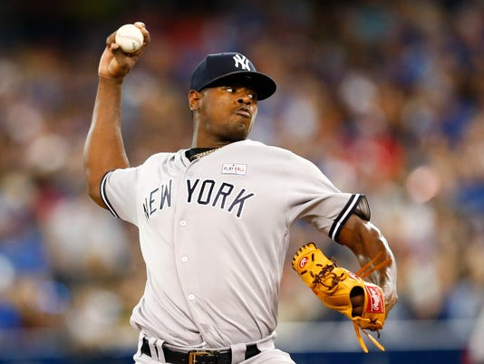 USP MLB: NEW YORK YANKEES AT TORONTO BLUE JAYS S BBA TOR NYY CAN ON