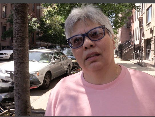Photo shows Hilda Mendoza, a New York City foster mother