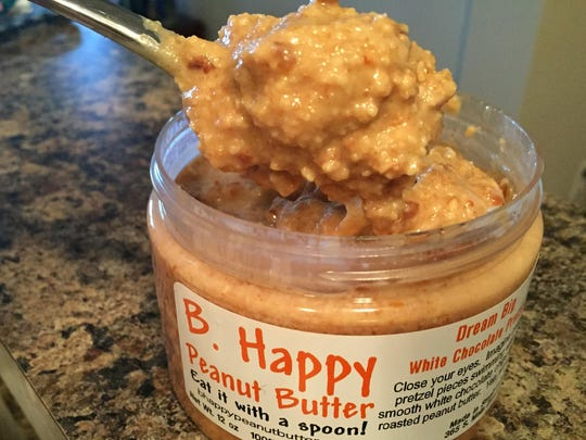 B. Happy labels instruct you to eat the peanut butter