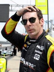 Team Penske IndyCar driver Simon Pagenaud (1) during