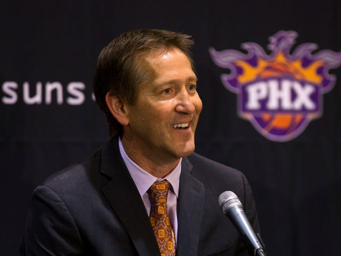 May 28, 2013 - Jeff Hornacek is introduced as the new head coach of the Suns during a news conference at US Airways Center.