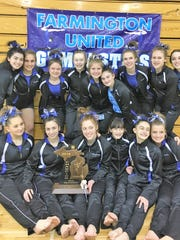 The Farmington United gymnastics team captured its sixth consecutive regional championship by posting the state's second-highest team score.