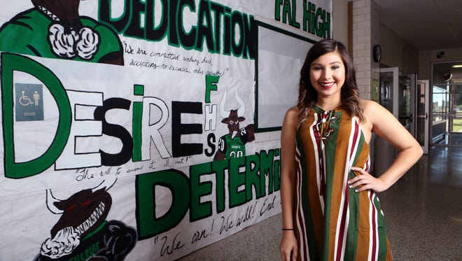 Falfurrias High School student Andrea Imelda Hernandez was awarded the 2016 Corpus Christi Caller-Times Distinguished Scholar in the category of spirit.