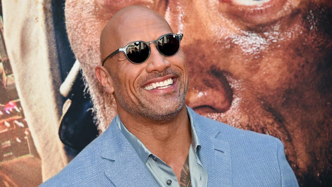 "Actor Dwayne Johnson attends the ""Skyscraper"" premiere at AMC Loews Lincoln Square on Tuesday, July 10, 2018, in New York. (Photo by Evan Agostini/Invision/AP) ORG XMIT: NYEA104"