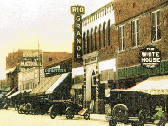 A historic shot shows the Rio Grande Theatre in its early days. The theater first opened in 1926 and has weathered earthquakes, a fire and hard economic times.