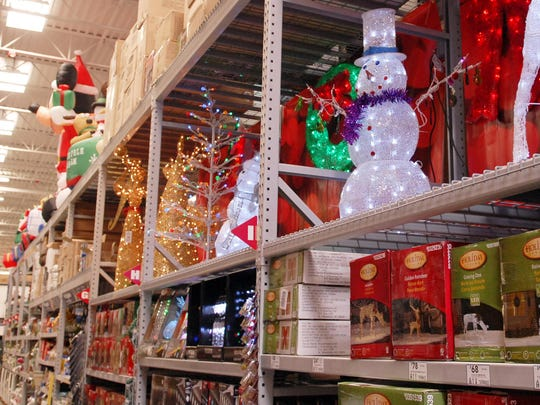 Christmas merchandise at Lowes